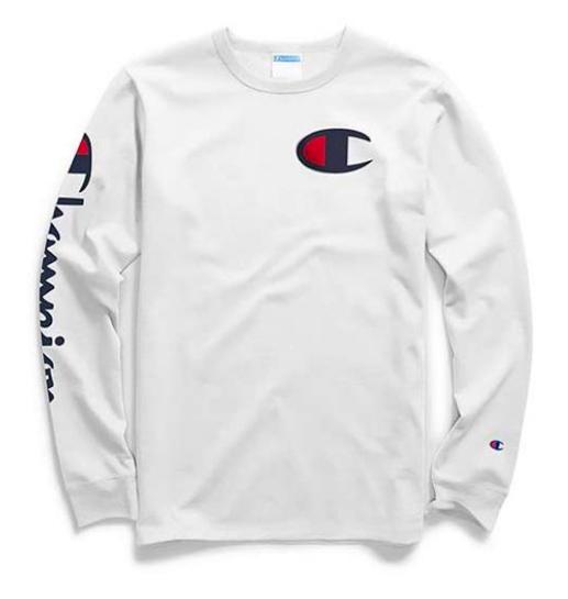 prachtige stijl koop online groothandel online Camiseta Manga Longa Champion - Logo C Heritage Branca